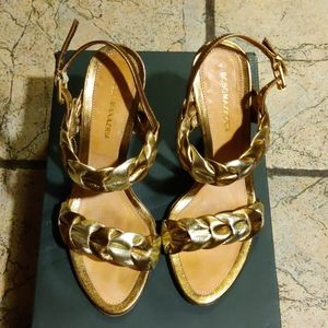 🎈BCBGMaxazria Leather Heels, EUC, Sz 6